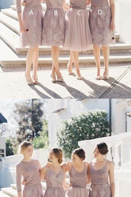 Short Bridesmaid Dress, Charming Bridesmaid Dress