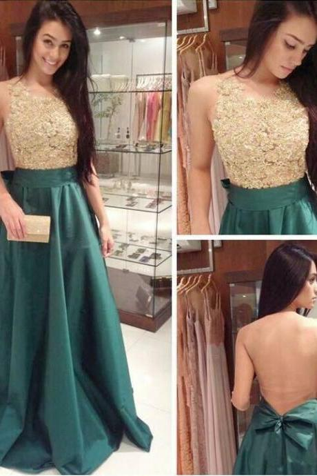 Free Shipping Lace Prom Dress, Sexy Deep Green Graduation Dress,Sexy Open Back Evening Party Dress, Backless Occasion Dress