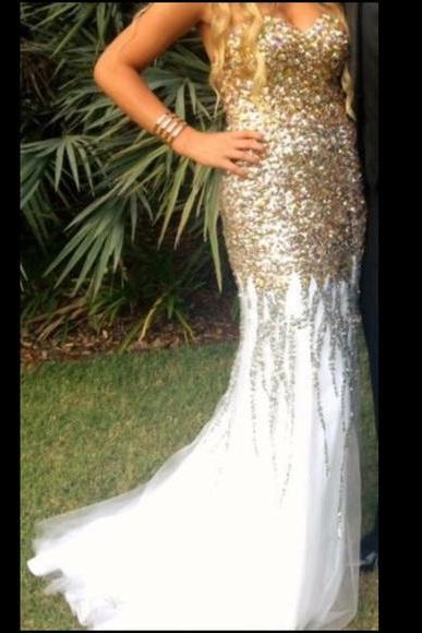 Prom Dresses Sexy Mermaid Luxury Sparkle Bling Crystal Long Evening Dresses Formal Dress Prom Dress Evening Gowns