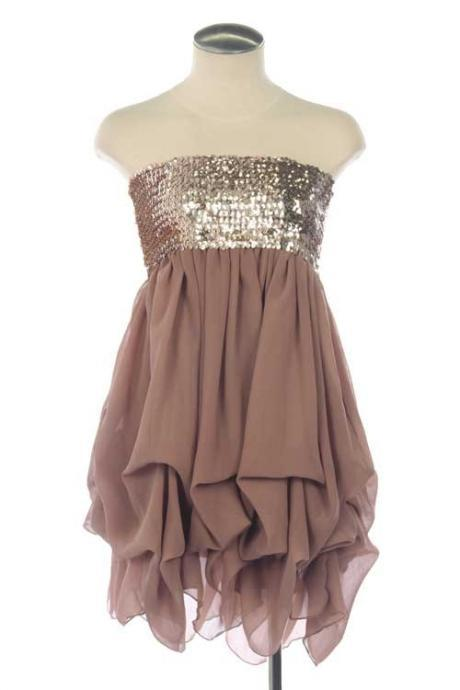 Charming Homecaming Dress,Sweetheart Homecaming Dress,Chiffon Homecaming Dress,Short Prom Dress, Cute mini dress