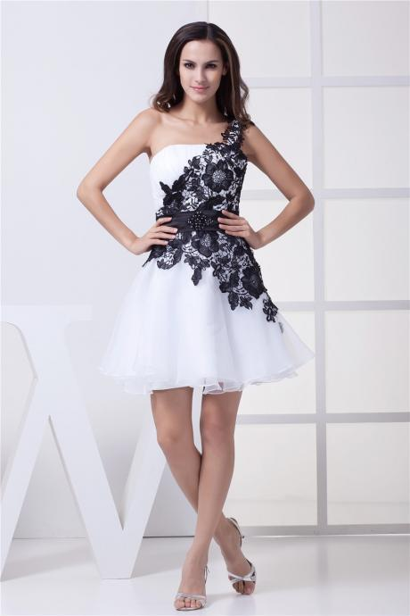 Chiffon Homecoming Dresses,Elegant Evening Dresses, Applique Cocktail Dresses, Beaded 2016 Popular Homecoming Dresses