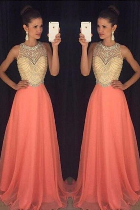 New Arrival Chiffon Prom Dress,Beading Prom Gown Dress,Evening Formal Gown,Long Prom Dress