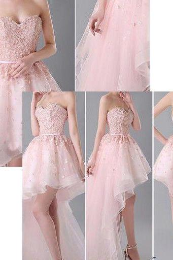 Charming Prom Dress,Hi-Low Prom Dress,Tulle Homecoming Dress,Short Prom Dresses,Sweetheart Prom Dress