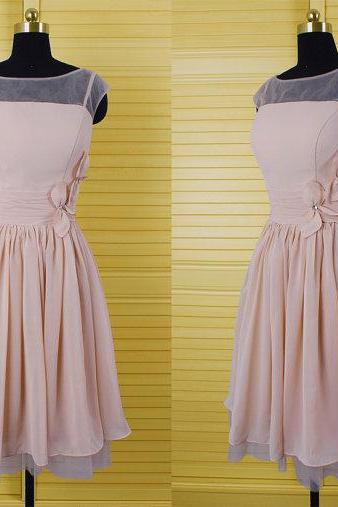 Charming Prom Dress,Chiffon Prom Dress,Cap Sleeve Prom Dress,Party Dress