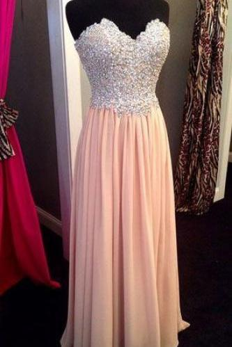 2016 Custom Charming Chiffon Prom Dress,Sexy Sweetheart Evening Dress