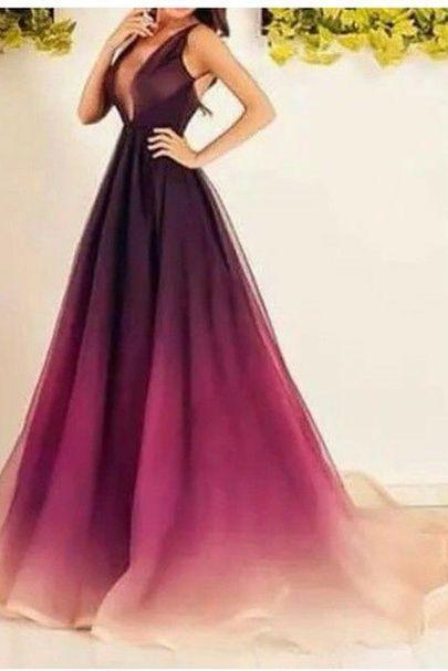 2017 Custom Made Charming Prom Dress, Sleeveless Evening Dress, Deep V-Neck Prom Dress
