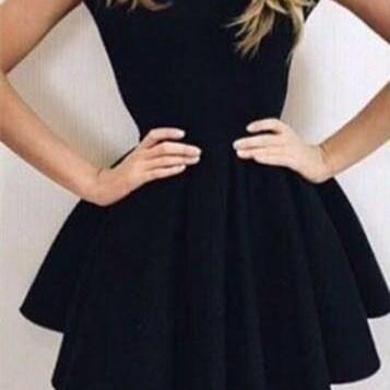 2016 sexy backless party dress,black homecoming dress,sweet ball gown for party